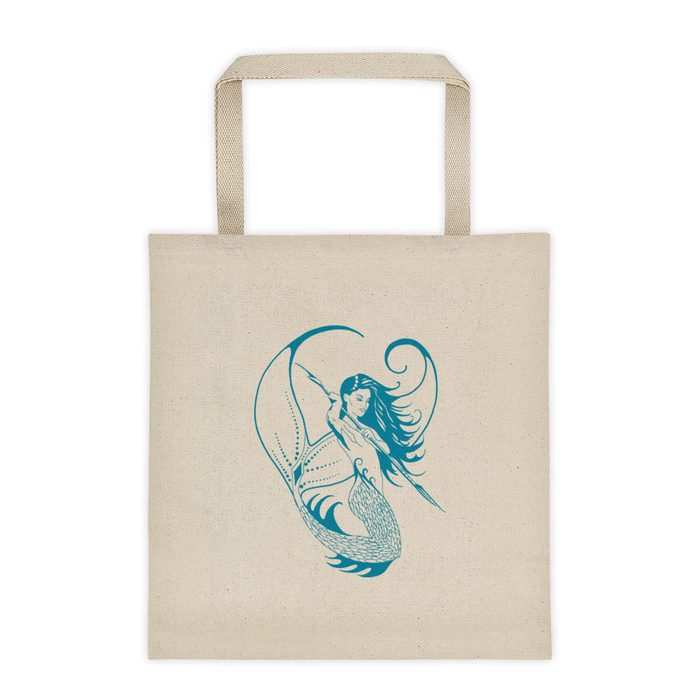 Deep sea huntress design tote bag permission apparel permission apparel deep sea huntress design liberty tote bag maxwellsz
